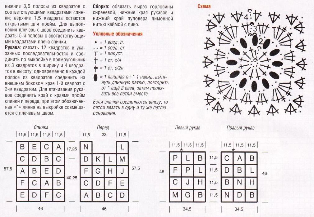 Вязание крючком бабушкин квадрат модели и схемы yf dtnyfvcrgv zpsrty 2
